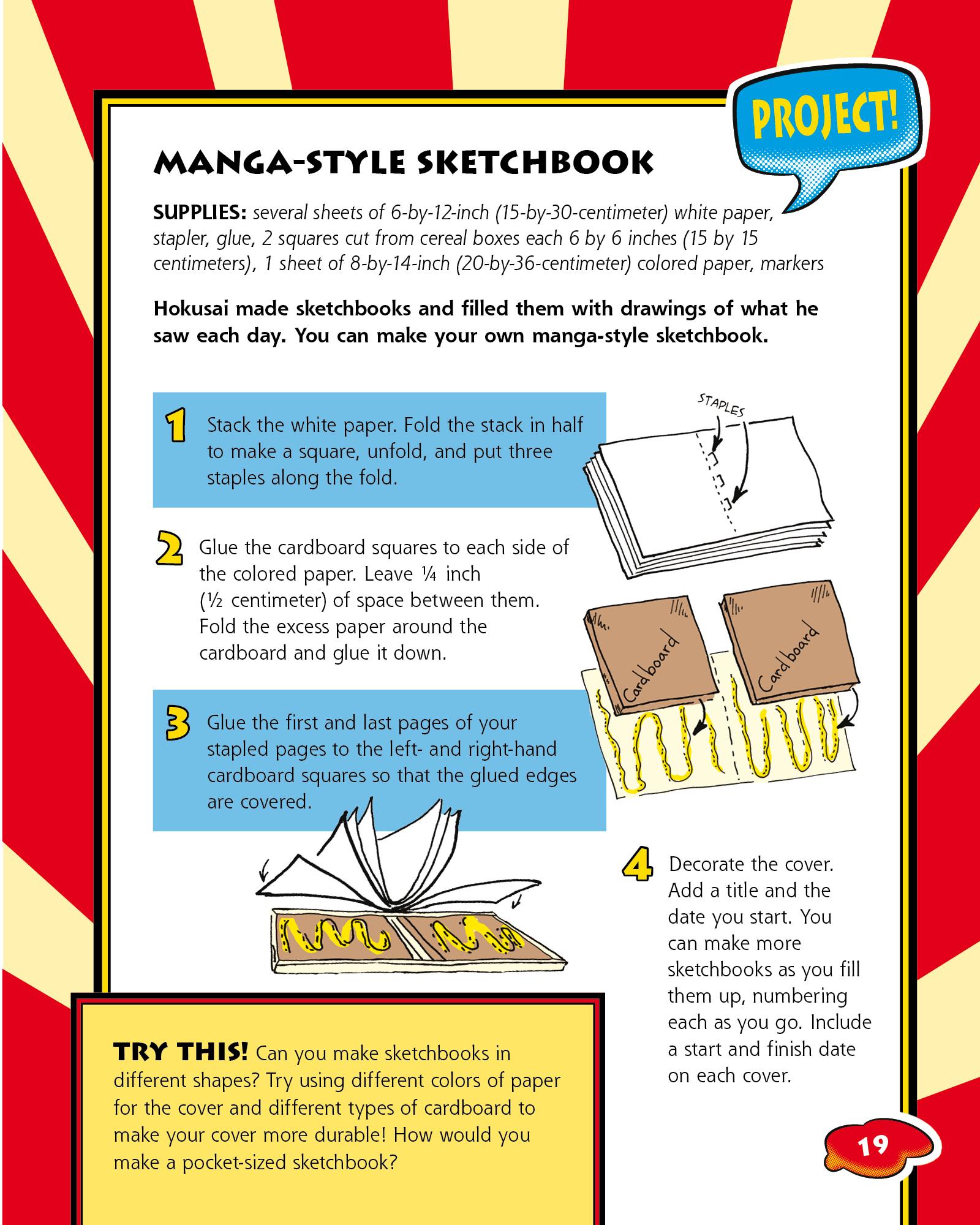 Make a Manga-style Sketchbook
