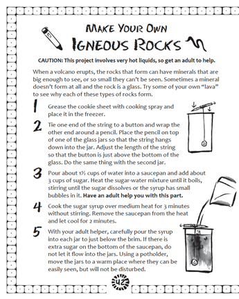 Make Your Own Igneous Rocks