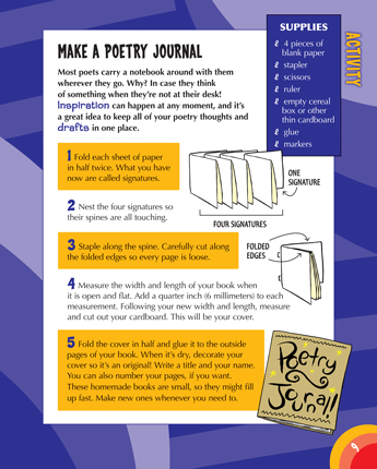 Make a Poetry Journal
