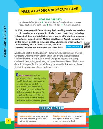 Make a Cardboard Arcade Game