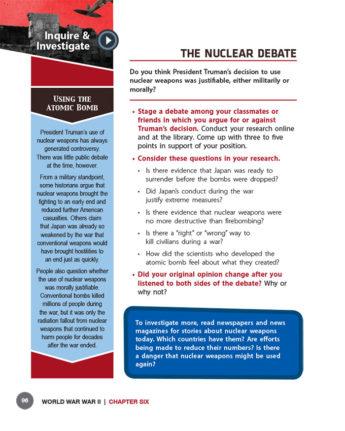 The Nuclear Debate