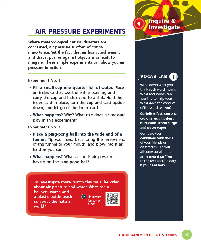 Air Pressure Experiments