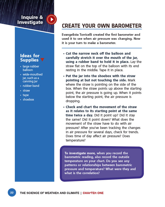 Create Your Own Barometer