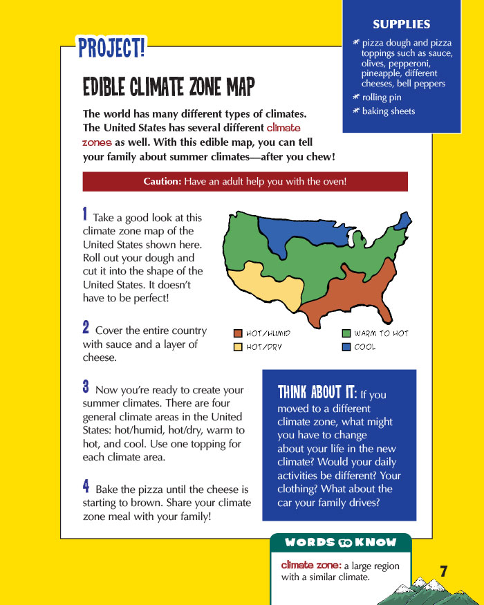 Edible Climate Zone Map