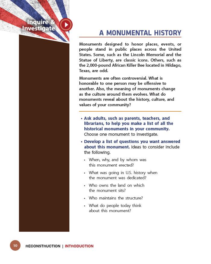 A Monumental History