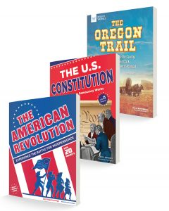 three book covers for American History book bundle