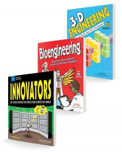 three book covers for innovation book bundle