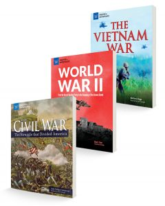 three covers for book bundle history