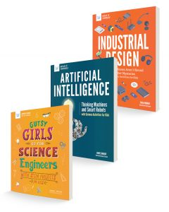 covers for Gutsy Girls Go for Science Engineers, Artificial Intelligence, and Industrial Design