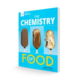 """Book standing up """"The Chemistry of Food"""""""