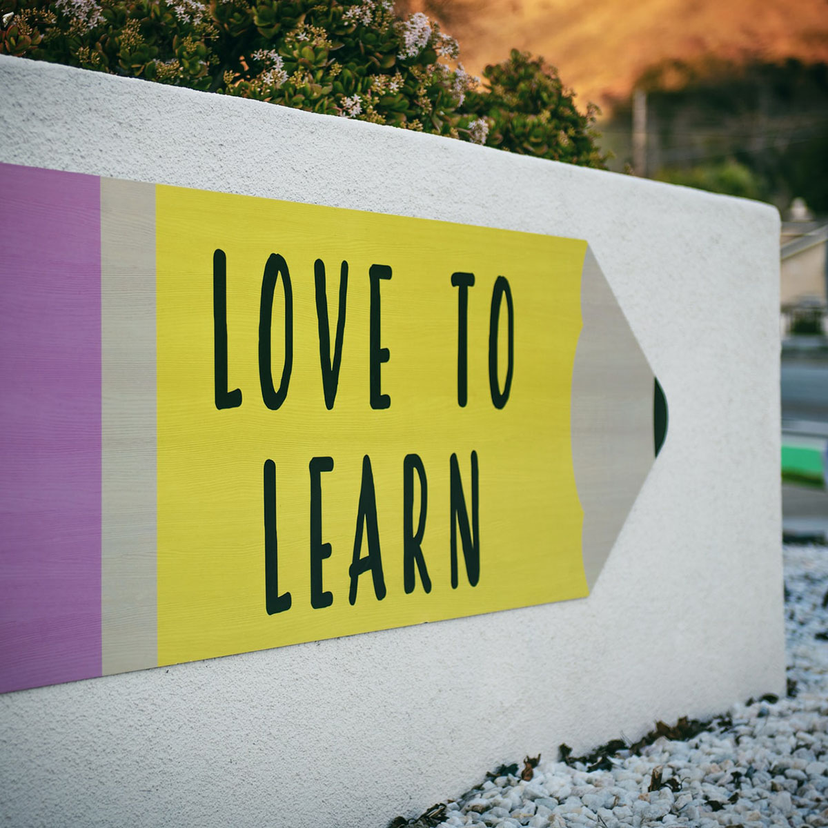 Love to Learn written on pencil